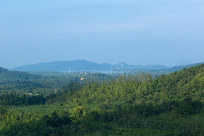 Landscape viewpoint of Grass Mountain. stock photography