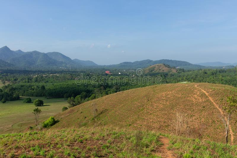 Landscape viewpoint of Grass Mountain. royalty free stock image