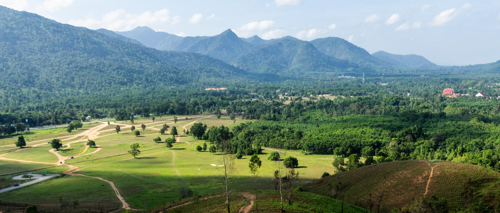 Landscape viewpoint of Grass Mountain. royalty free stock photography