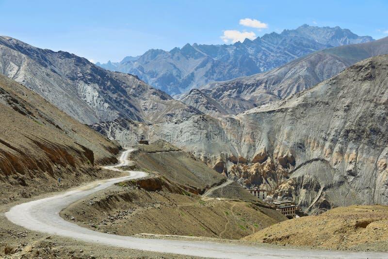 Landscape views from Lamayuru Village as seen above the Monastery, Ladakh, India royalty free stock photos