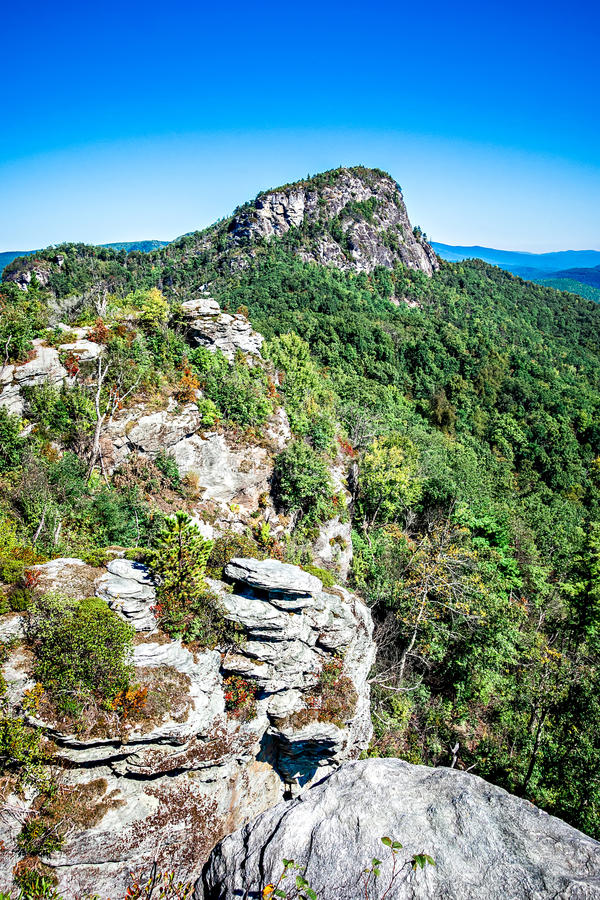 Landscape views on top of table rock mountain nc royalty free stock photos