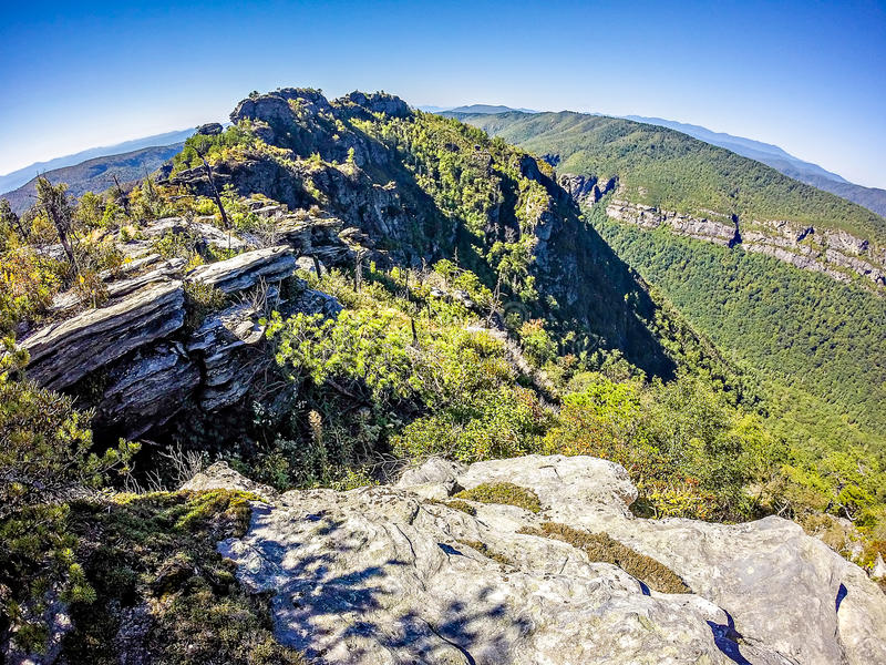 Landscape views on top of table rock mountain nc royalty free stock images