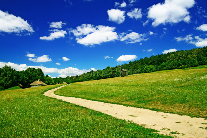 Download Landscape With  Village Road Stock Photo - Image: 2715604