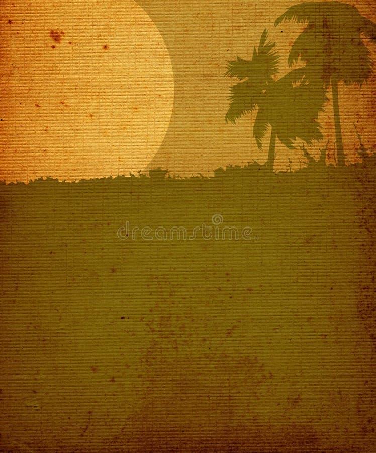 Landscape vintage royalty free illustration