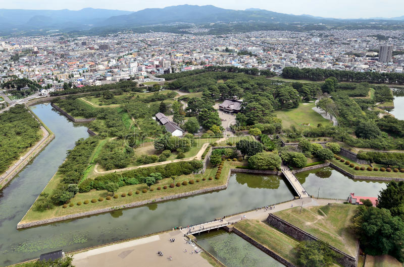 Download Landscape Visible From The Tower Goryokaku. Royalty Free Stock Photography - Image: 26478077