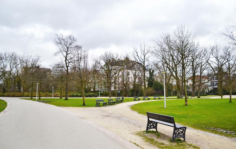 Landscape of Vondelpark Amsterdam Holland. Travel Europe - european destination stock photos
