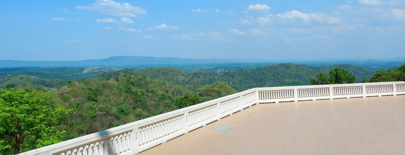 Landscape of watpaphukon Udonthani in Thailand. Landscape of watpaphukon temple Udonthani in Thailand Mountain royalty free stock images