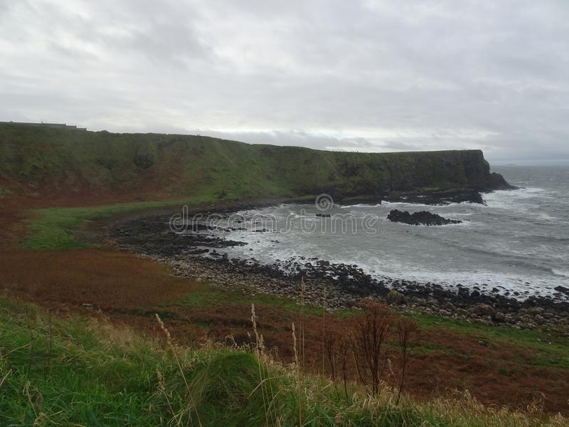 Landscape on the way to the Giants Causeway, Ireland royalty free stock image