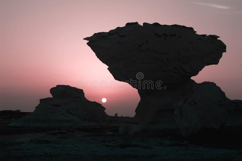 Landscape of the White Desert in Egypt royalty free stock photos