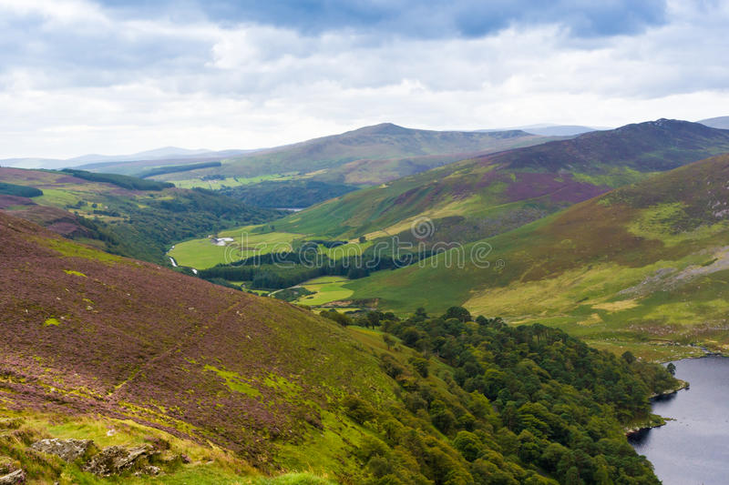 Landscape of Wicklow Mountains, Ireland.  stock photo
