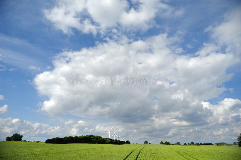 Download Landscape And Wind Turbines Stock Photo - Image: 8478288