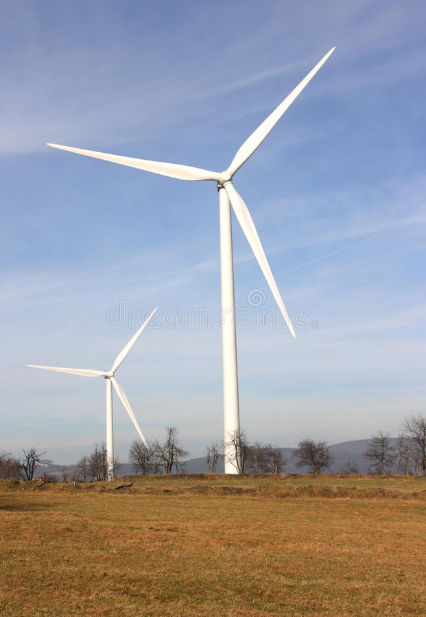 Download Landscape With Windmills Royalty Free Stock Image - Image: 17842156
