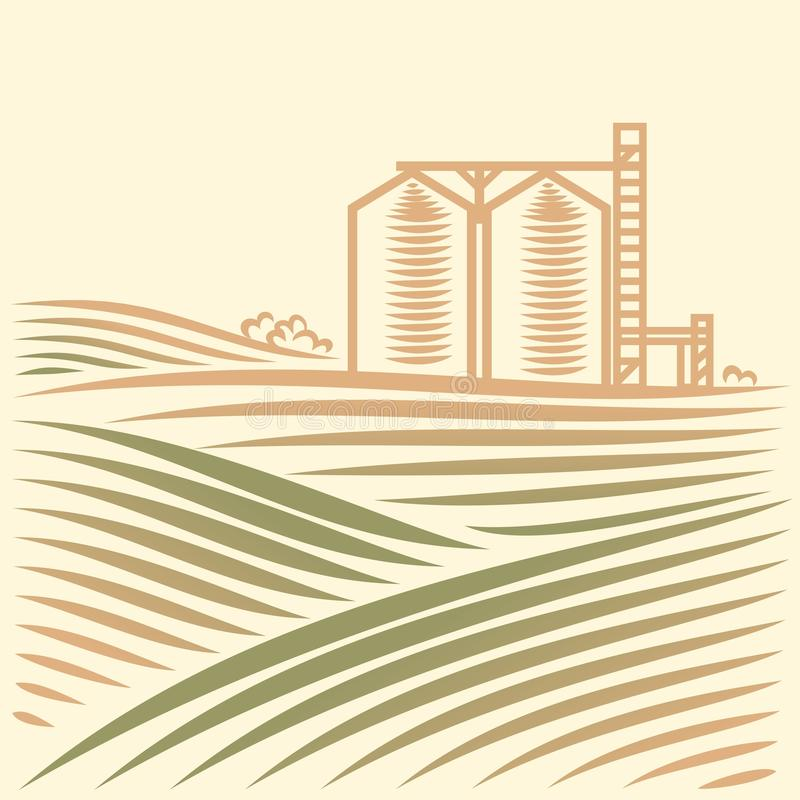 Free Landscape With One Grain Elevator Stock Photos - 29877663