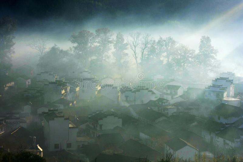 Landscape of Wuyuan County. Wuyuan County is a county of Jiangxi province, People& x27;s Republic of China. It is under the jurisdiction of the prefecture-level stock photography