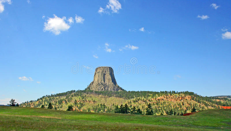 Devil's Tower (2). Landscape in Wyoming with Devil's Tower stock photos