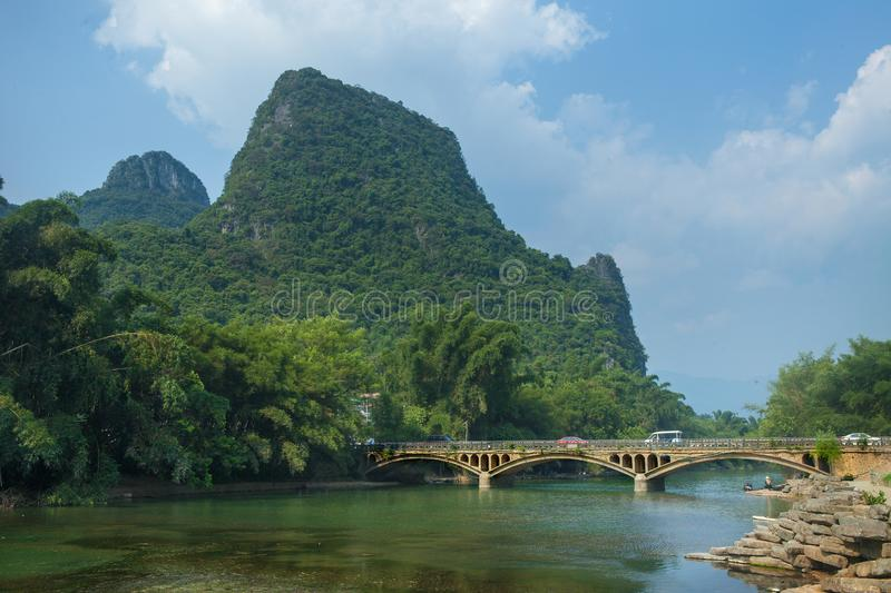 Landscape of Xinping,Guilin royalty free stock photography