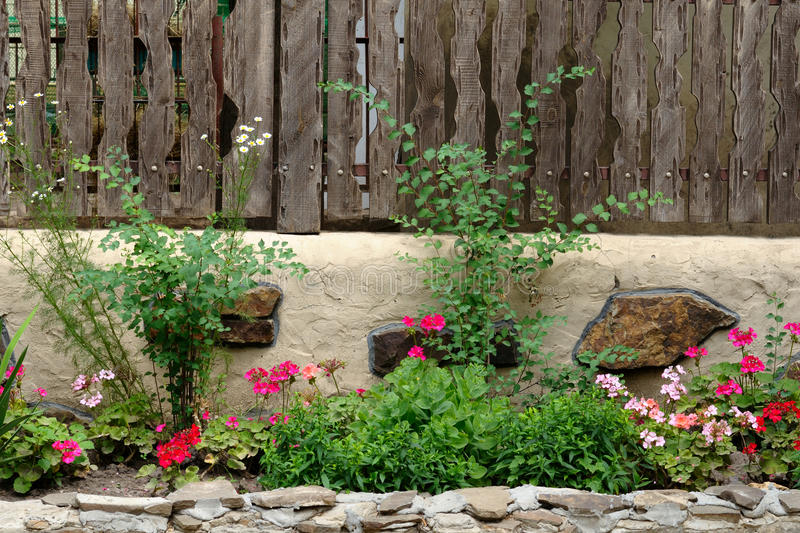 Landscaped flower garden royalty free stock images