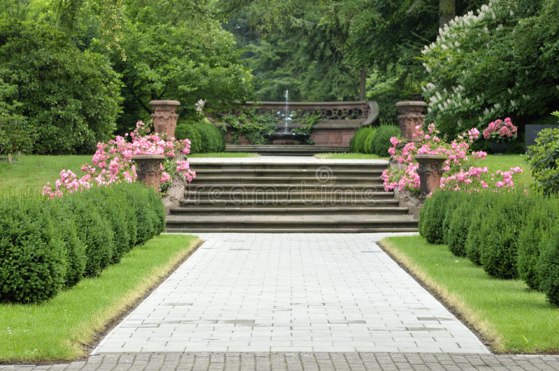 Landscaped park royalty free stock images