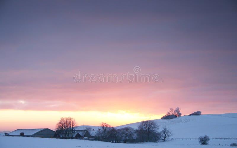 Landscapefarm de l'hiver photos stock