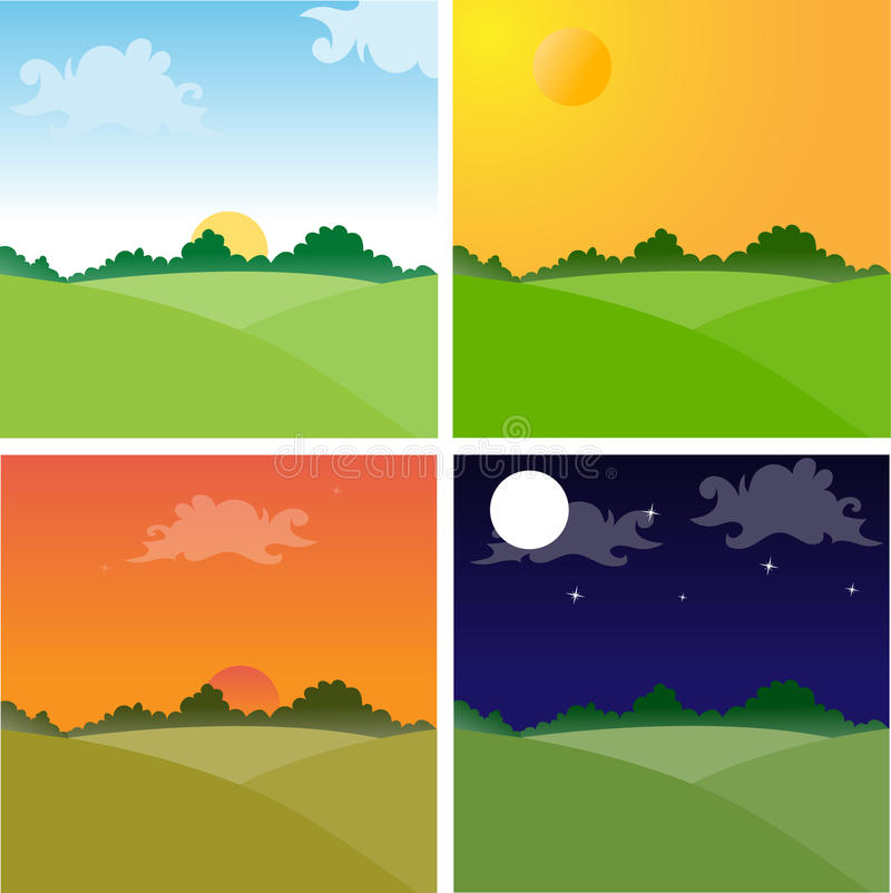 Download Landscapes stock vector. Illustration of noon, dark, afternoon - 10909290