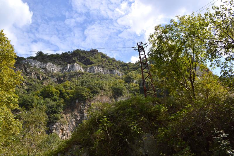 "Landscapes Around Bachkovo Monastery ""Assumption of Holy Virgin"". Bulgaria royalty free stock images"