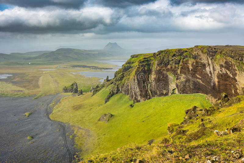 Landscapes around Dyrholaey - Iceland royalty free stock photo