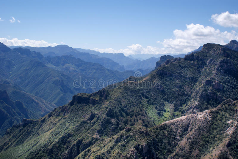 Landscapes of Copper Canyons in Chihuahua, Mexico. Mountainous landscapes of Copper Canyons in Chihuahua, Mexico royalty free stock photos