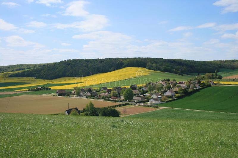 Landscapes of France: Bionval, Normandy stock photo