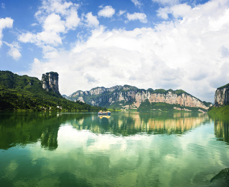 Landscapes of the headstrea stock image