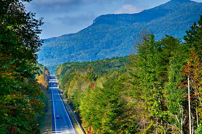 landscapes near lake jocassee and table rock mountain south carolina stock images