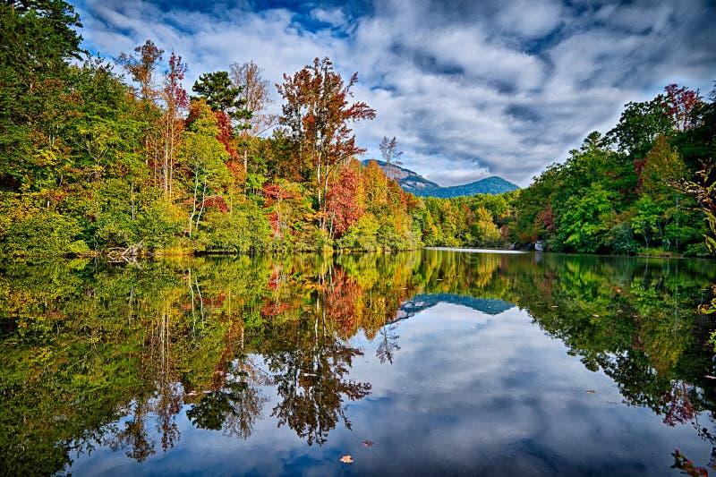 landscapes near lake jocassee and table rock mountain south carolina stock photos