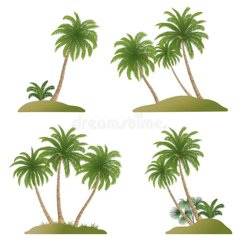 Landscapes with Palm Trees royalty free illustration