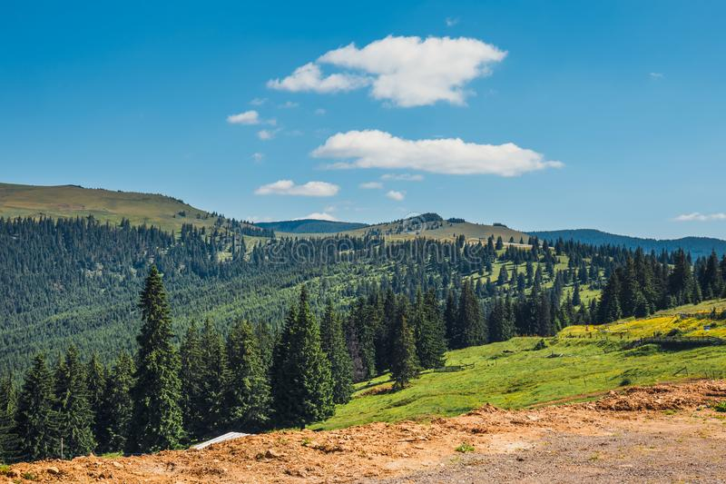 Landscapes of Rodna Mountains in eastern carpathians, romania stock images