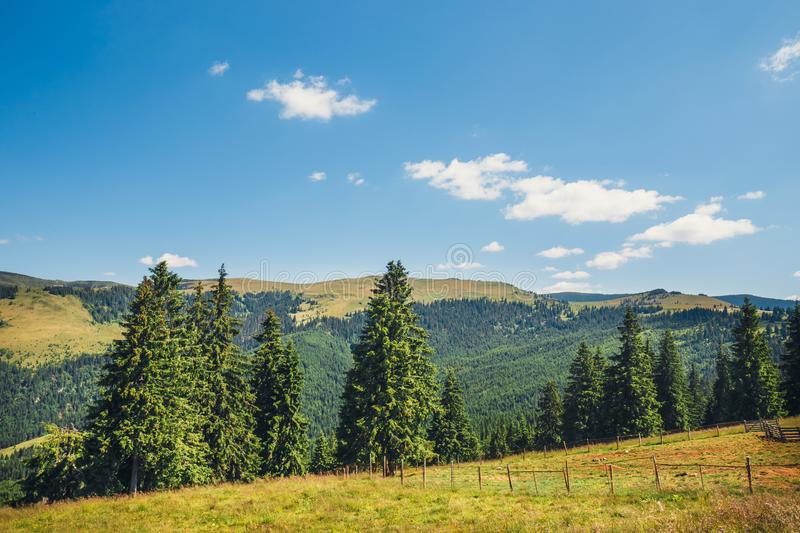 Landscapes of Rodna Mountains in eastern carpathians, romania stock image