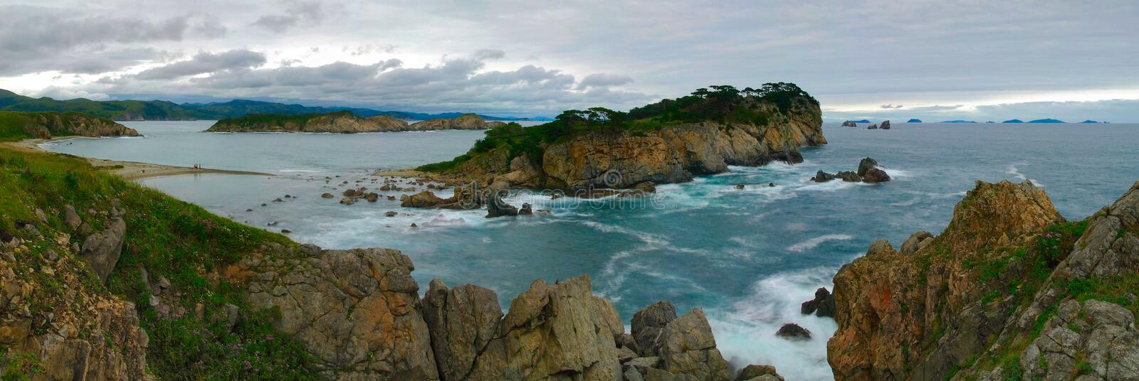 Landscapes of sea of Japan-1 royalty free stock photos