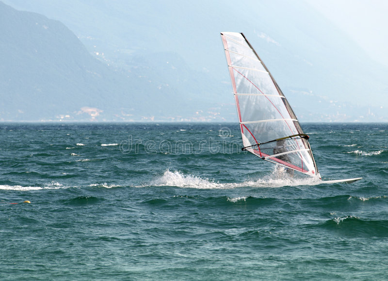 Download Surf-Riva Del Garda Lake Italy Royalty Free Stock Photography - Image: 5651927
