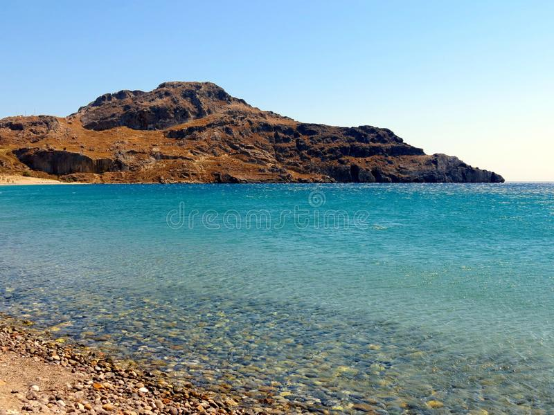 Landscapes of the Southern Crete royalty free stock photography