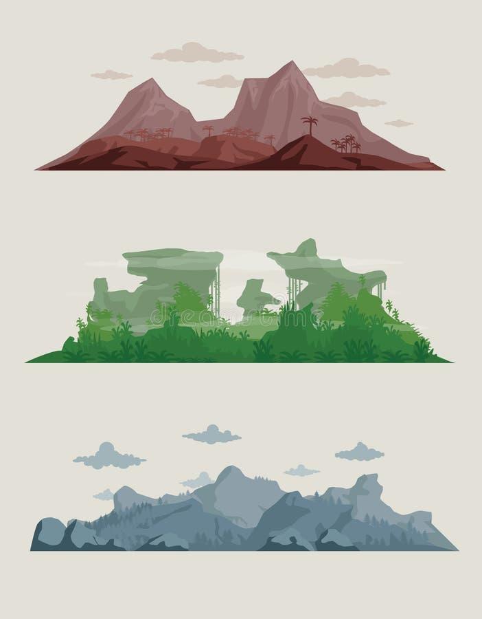 Landscapes royalty free illustration