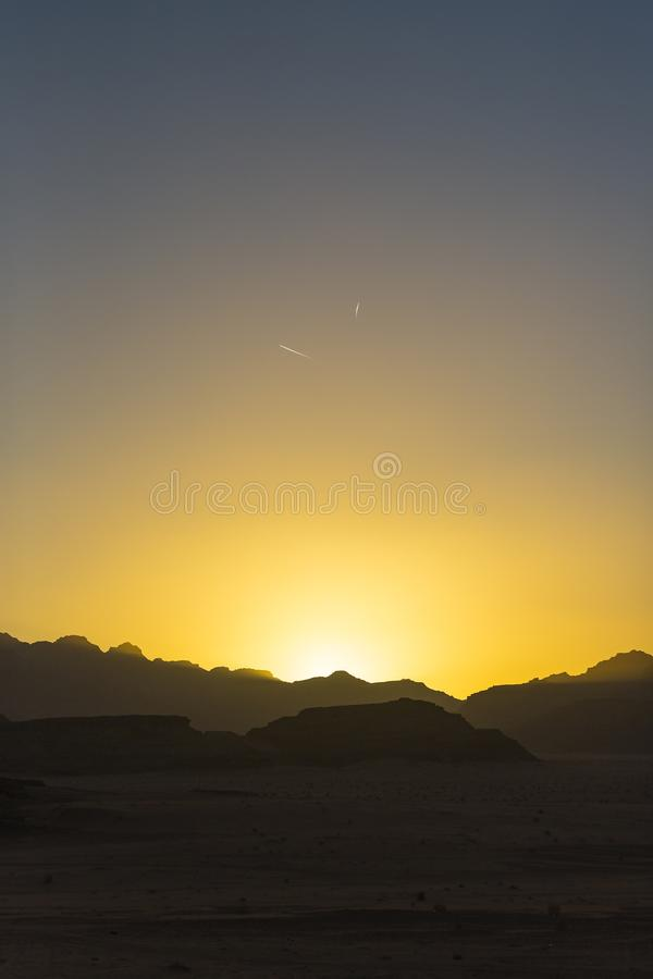 Landscapes Wadi Rum Desert in Jordan royalty free stock photo