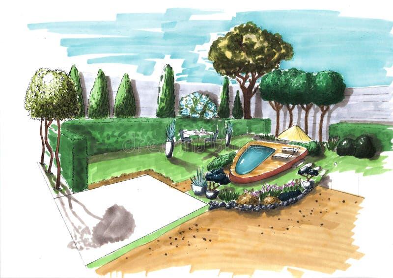 landscaping immagini stock libere da diritti