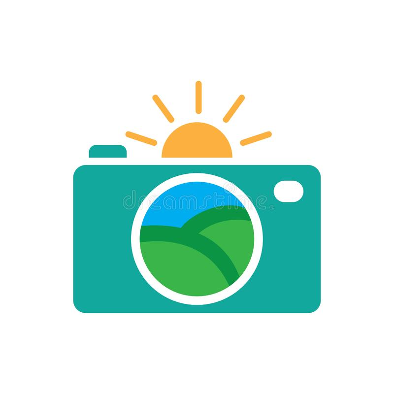 Landscaping Camera Logo Photography vector vector illustration