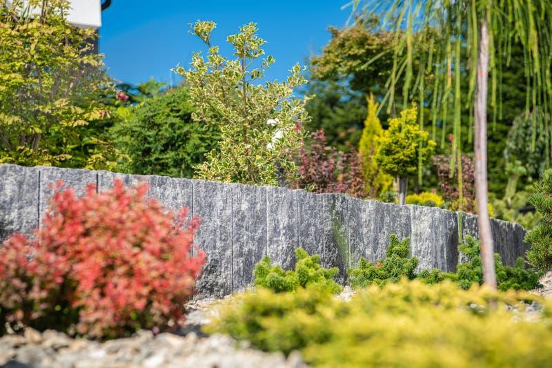 Landscaping Design Of Residential Garden stock photo