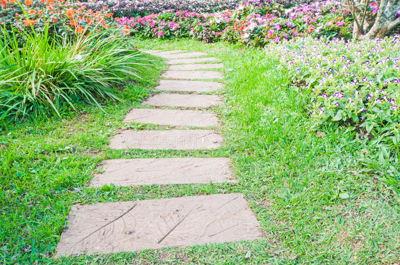 Landscaping in the garden. stock images