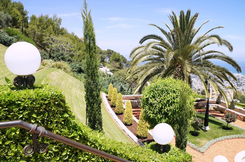 Landscaping gardens royalty free stock images