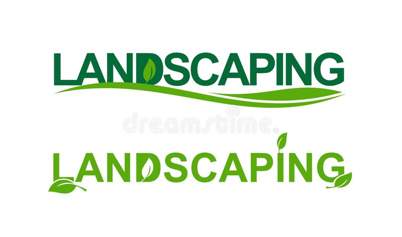 Landscaping in green stock illustration