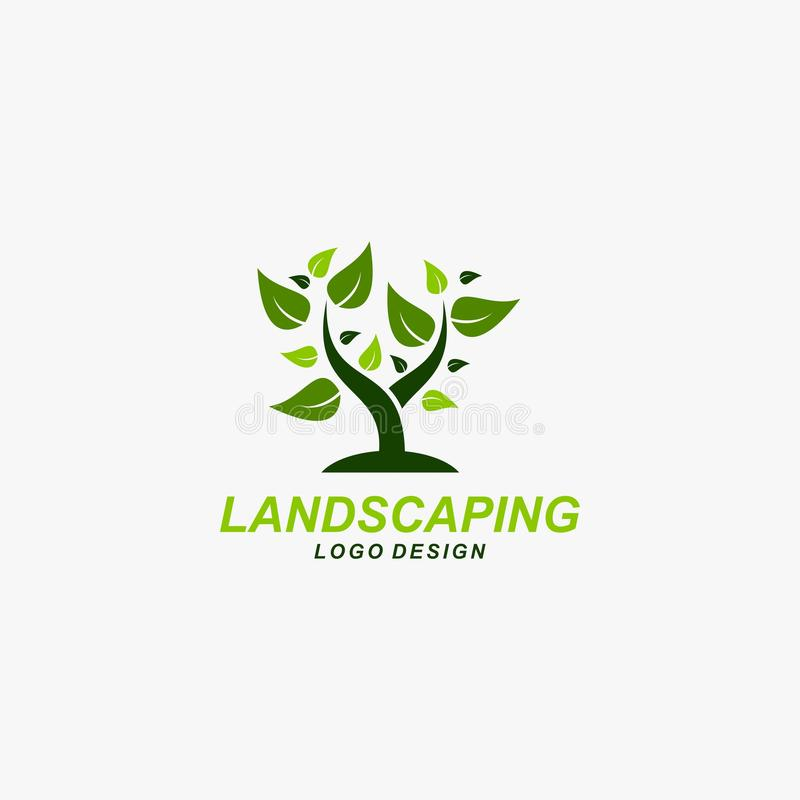 Landscaping logo design vector stock image