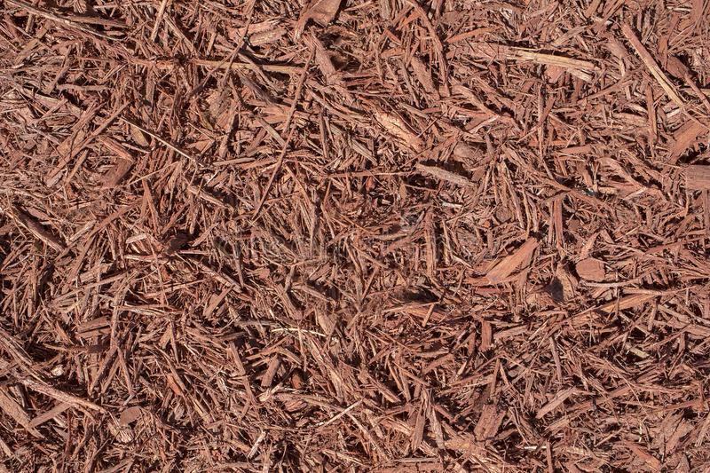 Landscaping Red Mulch stock images