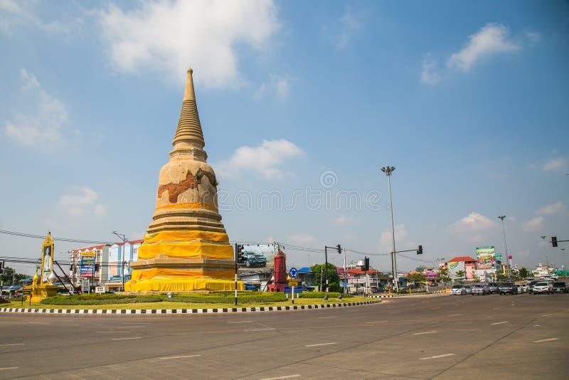 LANDSCAQES AYUTTHAYA TAILANDIA fotografia stock libera da diritti