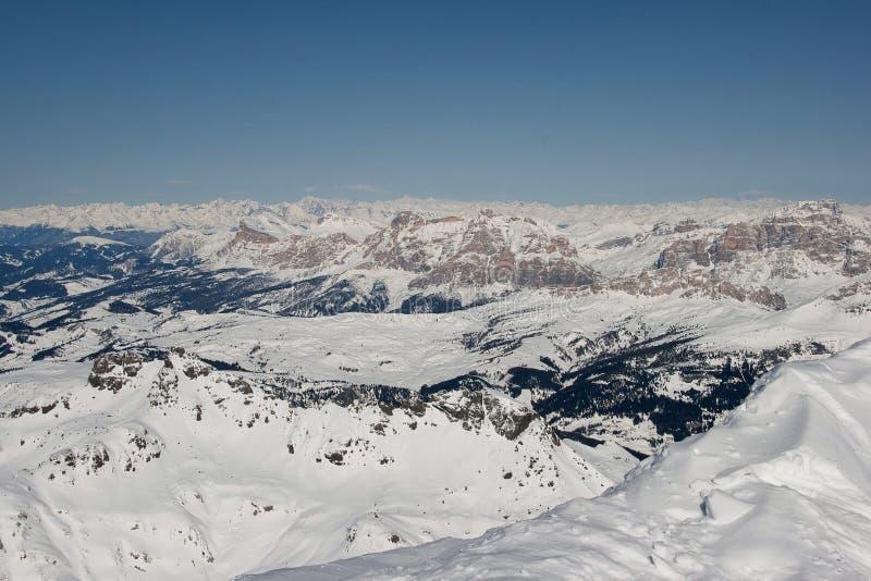 Landschaft über den Alpen lizenzfreies stockbild