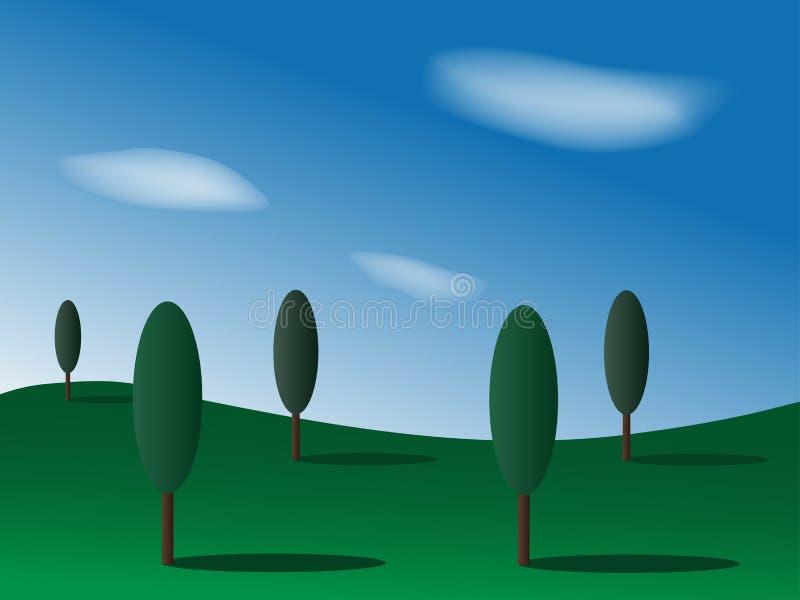 Landschaft lizenzfreie abbildung